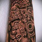 черное тату №266 - интересный вариант рисунка, который легко можно использовать для преобразования и нанесения как черное тату для девушки