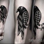 черное тату №607 - крутой вариант рисунка, который успешно можно использовать для переработки и нанесения как черное тату орнамент