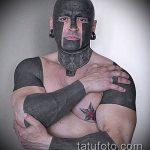 черное тату №871 - крутой вариант рисунка, который хорошо можно использовать для преобразования и нанесения как черное тату для девушки