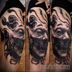 черное тату №593 - эксклюзивный вариант рисунка, который успешно можно использовать для переделки и нанесения как черное тату во всю руку