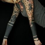 черное тату №341 - уникальный вариант рисунка, который успешно можно использовать для переработки и нанесения как черное тату на руке мужские