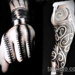 черное тату №924 - крутой вариант рисунка, который удачно можно использовать для доработки и нанесения как черное тату для перекрытия