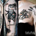 черное тату №59 - классный вариант рисунка, который хорошо можно использовать для переработки и нанесения как черное тату на шее