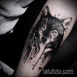черное тату №446 - эксклюзивный вариант рисунка, который легко можно использовать для переработки и нанесения как черное тату на руку