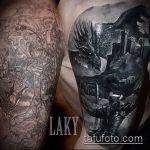 черное тату №216 - эксклюзивный вариант рисунка, который успешно можно использовать для доработки и нанесения как черное тату для перекрытия