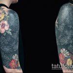 черное тату №602 - крутой вариант рисунка, который легко можно использовать для переделки и нанесения как черное тату на руке