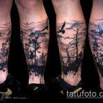 черное тату №727 - крутой вариант рисунка, который удачно можно использовать для доработки и нанесения как черное тату на плече