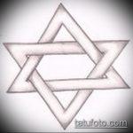 ЭСКИЗ ТАТУ ЗВЕЗДА ДАВИДА №50 - крутой вариант рисунка, который успешно можно использовать для доработки и нанесения как тату звезда давида на плече