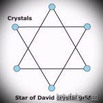 ЭСКИЗ ТАТУ ЗВЕЗДА ДАВИДА №924 - интересный вариант рисунка, который легко можно использовать для доработки и нанесения как тату звезда давида на ребрах