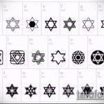 ЭСКИЗ ТАТУ ЗВЕЗДА ДАВИДА №4 - интересный вариант рисунка, который успешно можно использовать для переделки и нанесения как тату звезда давида на кисти руки