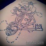 Эскиз для татуировки ключ и замок №769 - достойный вариант рисунка, который легко можно использовать для доработки и нанесения как тату ключ и замок для пары