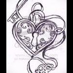 Эскиз для татуировки ключ и замок №892 - достойный вариант рисунка, который легко можно использовать для переделки и нанесения как тату замок и ключ парные