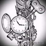 Эскиз для татуировки ключ и замок №630 - прикольный вариант рисунка, который успешно можно использовать для преобразования и нанесения как тату замок и ключ