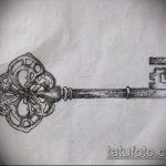 Эскиз для татуировки ключ и замок №197 - достойный вариант рисунка, который легко можно использовать для переработки и нанесения как тату замок и ключ парные
