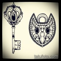 Эскизы для татуировки ключ и замок