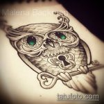 Эскиз для татуировки ключ и замок №576 - интересный вариант рисунка, который хорошо можно использовать для доработки и нанесения как тату ключ и замок для пары