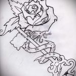 Эскиз для татуировки ключ и замок №570 - достойный вариант рисунка, который успешно можно использовать для доработки и нанесения как тату замок и ключ парные