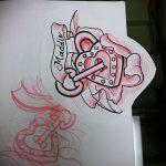 Эскиз для татуировки ключ и замок №174 - прикольный вариант рисунка, который легко можно использовать для переделки и нанесения как тату ключ и замок для пары