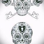 Эскиз для татуировки ключ и замок №273 - прикольный вариант рисунка, который успешно можно использовать для преобразования и нанесения как тату ключ и замок для пары