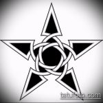 Эскиз тату звезды на ключице №9 - классный вариант рисунка, который успешно можно использовать для переработки и нанесения как тату звезды на ключицах у девушек