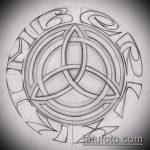 Эскиз тату звезды на ключице №822 - прикольный вариант рисунка, который успешно можно использовать для переделки и нанесения как тату звезды на ключицах у девушек