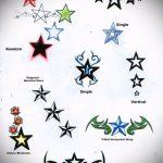 Эскиз тату звезды на ключице №633 - прикольный вариант рисунка, который успешно можно использовать для доработки и нанесения как тату звезды на ключицах у девушек