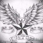 Эскиз тату звезды на ключице №791 - достойный вариант рисунка, который успешно можно использовать для переработки и нанесения как тату звезды на ключицах у девушек