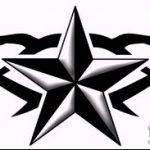 Эскиз тату звезды на ключице №978 - классный вариант рисунка, который хорошо можно использовать для переработки и нанесения как тату звезды на ключицах у девушек
