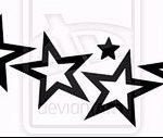 Эскиз тату звезды на ключице №551 - интересный вариант рисунка, который удачно можно использовать для переработки и нанесения как тату звезды на ключице ближе к шее