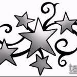 Эскиз тату звезды на ключице №424 - достойный вариант рисунка, который успешно можно использовать для переработки и нанесения как тату звезды на ключицах у девушек