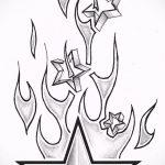 Эскиз тату звезды на ключице №535 - достойный вариант рисунка, который успешно можно использовать для доработки и нанесения как тату звезды на ключице ближе к шее