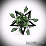 Эскиз тату звезды на ключице №705 - крутой вариант рисунка, который легко можно использовать для доработки и нанесения как тату звезды на ключицах и коленях