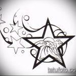 Эскиз тату звезды на ключице №823 - прикольный вариант рисунка, который успешно можно использовать для преобразования и нанесения как тату звезды на ключицах у девушек