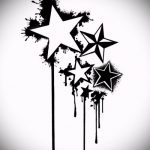 Эскиз тату звезды на ключице №694 - классный вариант рисунка, который легко можно использовать для преобразования и нанесения как тату звезды на ключицах и коленях