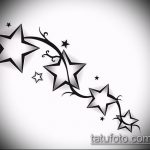 Эскиз тату звезды на ключице №173 - интересный вариант рисунка, который легко можно использовать для переделки и нанесения как тату звезды на ключице ближе к шее