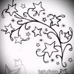 Эскиз тату звезды на ключице №134 - уникальный вариант рисунка, который удачно можно использовать для переработки и нанесения как тату звезды на ключицах и коленях