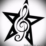 Эскиз тату звезды на ключице №220 - эксклюзивный вариант рисунка, который успешно можно использовать для переработки и нанесения как тату звезды на ключицах и коленях