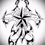 Эскиз тату звезды на ключице №344 - интересный вариант рисунка, который легко можно использовать для преобразования и нанесения как тату звезды на ключицах у девушек