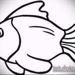 Эскиз тату золотая рыбка №360 - интересный вариант рисунка, который легко можно использовать для переделки и нанесения как тату золотая рыбка и лотос