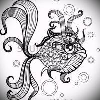 Эскизы тату золотая рыбка