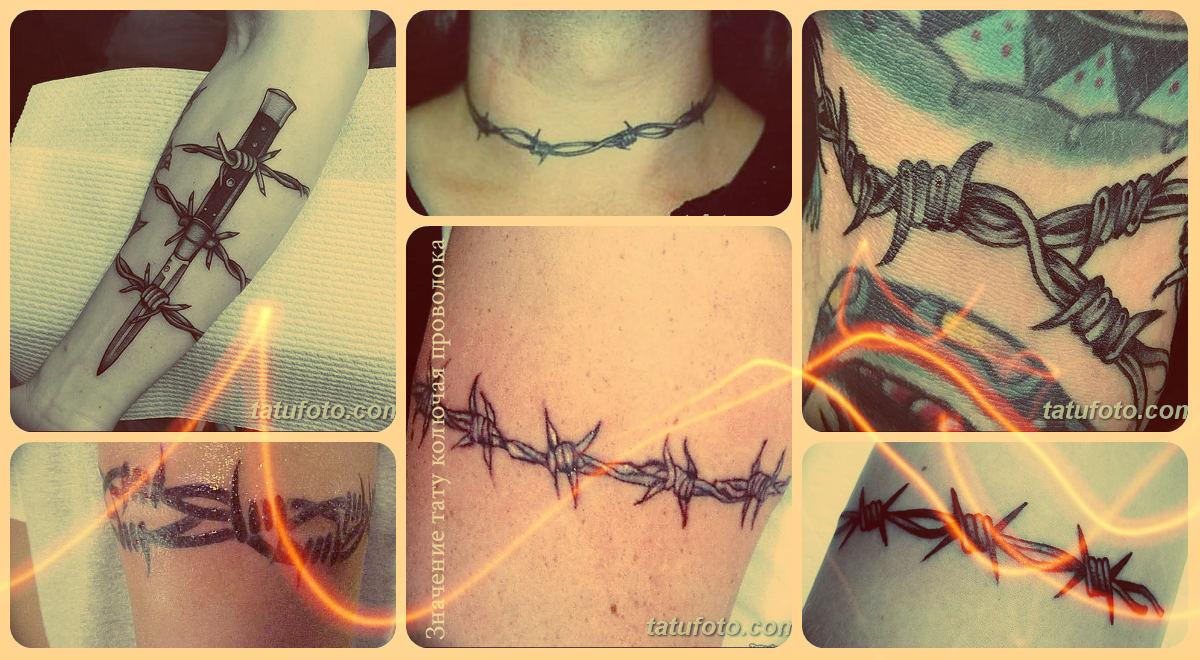 Значение тату колючая проволока - фото примеры рисунков татуировки
