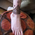Фото Мехенди на щиколотке - 21072017 - пример - 001 Mehendi on ankles