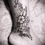 Фото Мехенди на щиколотке - 21072017 - пример - 003 Mehendi on ankles