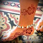 Фото Мехенди на щиколотке - 21072017 - пример - 007 Mehendi on ankles