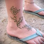 Фото Мехенди на щиколотке - 21072017 - пример - 008 Mehendi on ankles