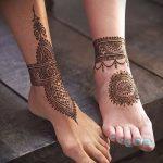 Фото Мехенди на щиколотке - 21072017 - пример - 016 Mehendi on ankles