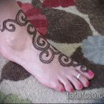 Фото Мехенди на щиколотке - 21072017 - пример - 049 Mehendi on ankles