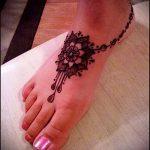 Фото Мехенди на щиколотке - 21072017 - пример - 050 Mehendi on ankles
