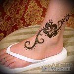 Фото Мехенди на щиколотке - 21072017 - пример - 052 Mehendi on ankles