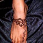 Фото Мехенди на щиколотке - 21072017 - пример - 055 Mehendi on ankles
